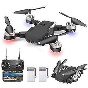 0BEST Drone avec Camera 1080P, 4K Pixels, Quadrotor de Vol Portable de 20-24 Minutes, équipé de 5 Millions de Pixels HD…
