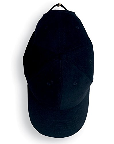 Anvil 136 6-Panel Brushed Twill Cap Black One Size