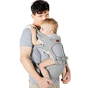 Lictin Porte-bébé ergonomique avec siège et capuche amovibles, ajustable et respirant- Porte-bébé avec 2 serviettes et 1…