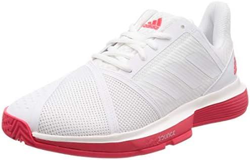 テニスシューズ CourtJam Bounce M ランニングホワイト/ランニングホワイト/ショックレッドS19(CG6325) 27 cm
