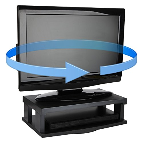 Swivel Base Tv Vcr (Trenton Gifts TV Swivel Stand | Supports Up To 250 Lbs | Black)