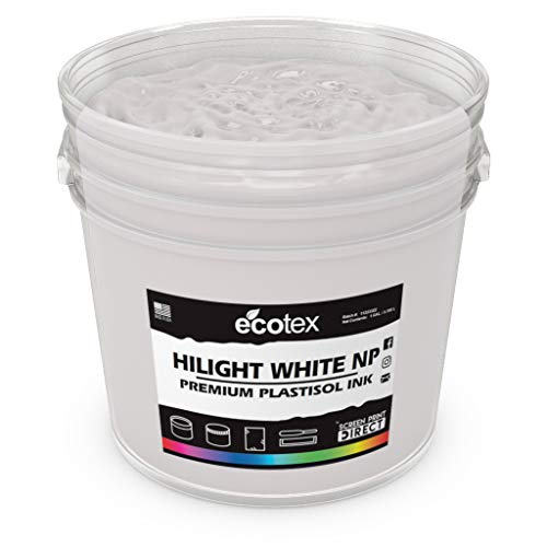 Ecotex HILIGHT White NP Plastisol Ink for Screen Printing - Non Phthalate Formula - All Sizes - Ryonet Screen Printing
