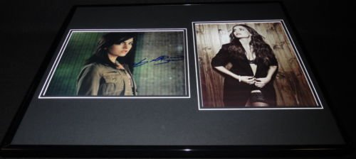 Camilla Belle Signed Framed 16x20 Lingerie Stockings Photo Set 10,000 BC