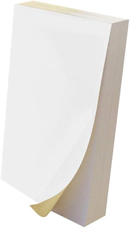 Papel adhesivo de vinilo imprimible, 50 hojas de papel de ...