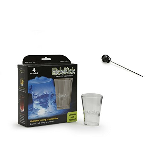 Plastic Shot Glasses - Removable Bottom with Skull Cocktail Picks ()