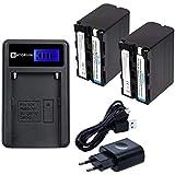 kit Carregador Antorium +2x baterias NP-F970 padrão Sony