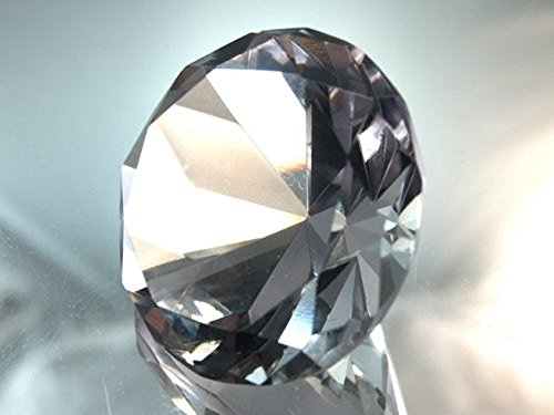 (60mm Clear Crystal Diamond Jewel Paperweight)