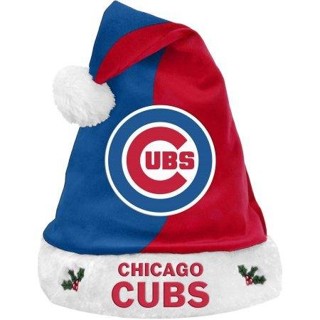 Chicago Cubs Official MLB 2017 Basic Santa Hat (Chicago Cubs Santa Hat)