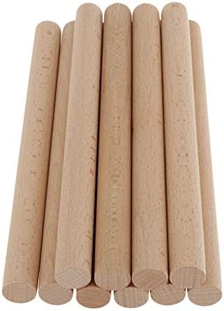 Sharplace 10本入り DIY バルサ材 丸棒 木の棒 約20cm 直径約17mm 未加工 手作り クラフト