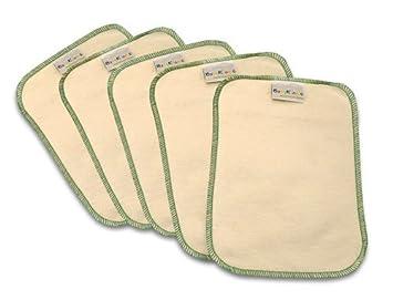 5 piezas de primera calidad bebé Toallitas, Verde, un tamaño