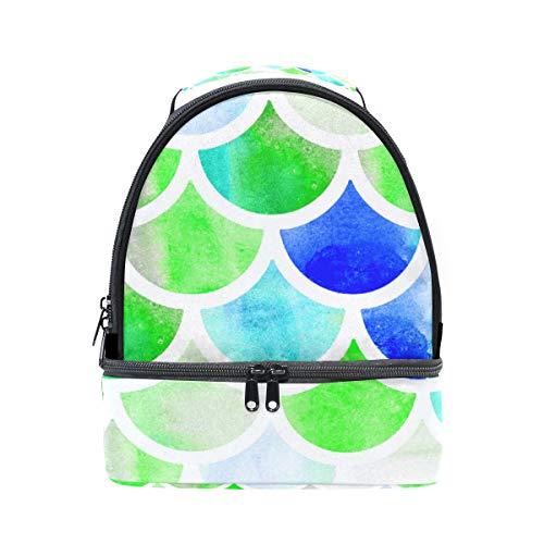 Alinlo coloré sirène Échelle Boîte à lunch Sac isotherme Cooler Tote avec bandoulière réglable pour Pincnic à l'école