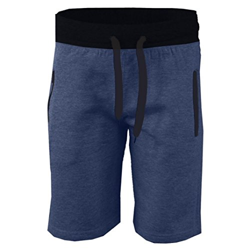 PASATO 2018 New Hot! Fashion Men Casual Pocket Beach Work Casual Short Trouser Shorts Pants (Blue, XL)
