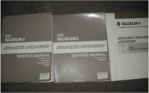 1999 suzuki grand vitara sq416 sq420 service repair shop manual set w ewd  oem: suzuki: amazon com: books