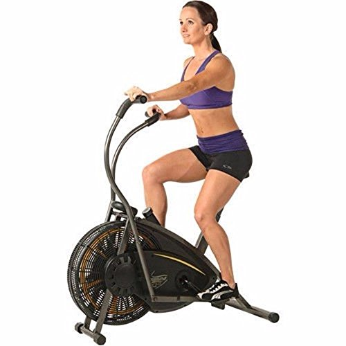Air Resistance Exercise Bike with Tension Knob Adjusts Pedal Resistance