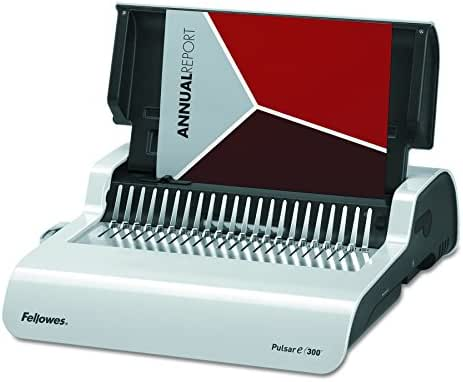 Fellowes 5216701 Pulsar Electric Comb Binding System, 300 Sheets, 17 x 15 3/8 x 5 1/8, White