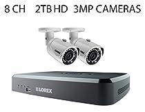 Lorex 8-Channel HD IP NVR with 2TB HDD, 2 Lorex LNB3163B 3MP Cameras