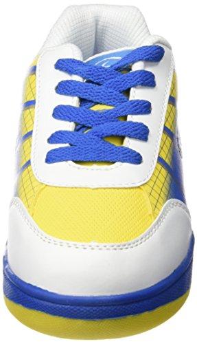 Beppi 2150430 - Zapatillas con ruedas para niño, color blanco / azul