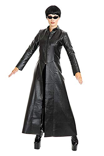 Charades Women's Cypher Enigma Coat, Black, -
