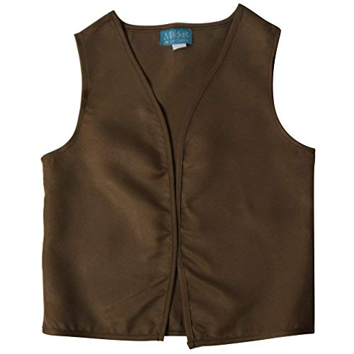 Making Believe Boys Peasant Costume Vest (Boys X-Large 10/12, Khaki/Olive Brown) -