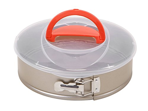 Art and Cook Round Spring Form Cake Pan with Stainless Steel Lock and Easy Storage Lid, 10