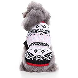 Mikey Store Pet Dog Clothes Soft Thickening Warm Stripe Polar Fleece Winter Clothes (Gray-C, L)