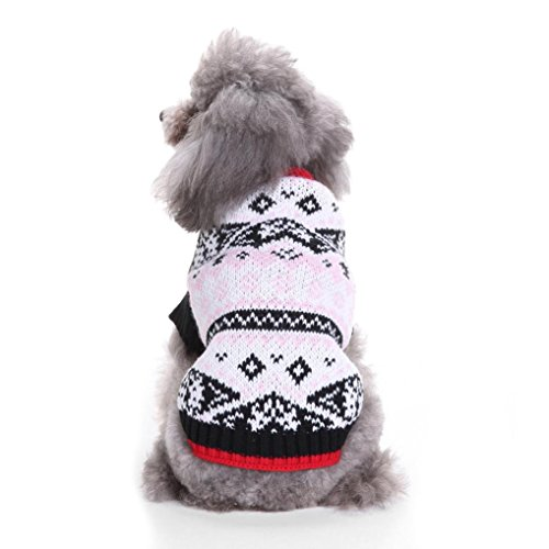 Mikey Store Pet Dog Clothes Soft Thickening Warm Stripe Polar Fleece Winter Clothes (Gray-C, L) - Extra Small Yoda Dog Costume