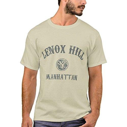 Zazzle Men's Basic T-Shirt, Lenox Hill T-Shirt, Sand - Sand Lenox