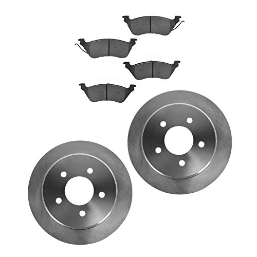 Brake Pad Rotor Kit Ceramic Rear for 01-07 Town & Country Grand Caravan