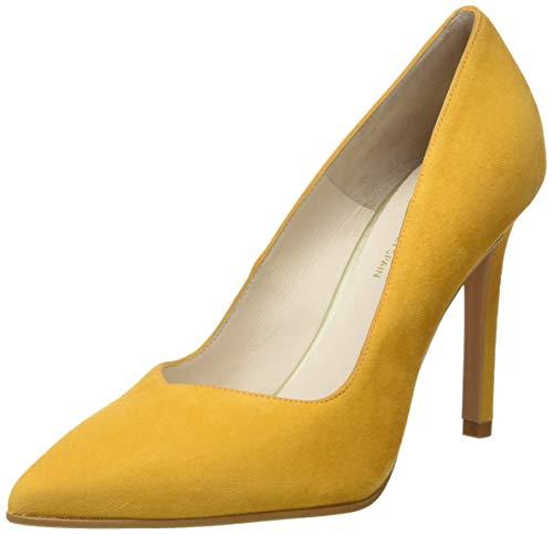 Punta Con Safron Victory Tacón ante Safron Ante Mujer Amarillo Para De Zapatos Cerrada Lodi TxpCIXSqwT