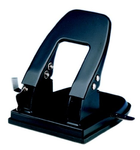 Charles Leonard 2 Hole Paper Punch, 3-1/8in Centers, 30 Sheet Capacity, Black,  (90228) by Charles Leonard (Image #1)