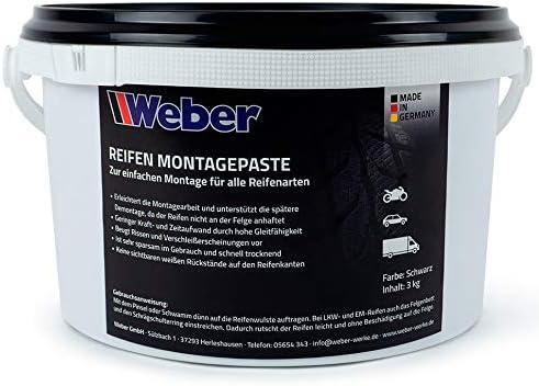Weber Gmbh Reifen Montagepaste Schwarz 3 Kg Reifenmontierpaste Auto