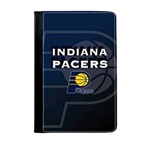 Fitted iPad mini and Retina iPad mini 2 Stand Case Indiana Pacers Logo Background-by Allthingsbasketball