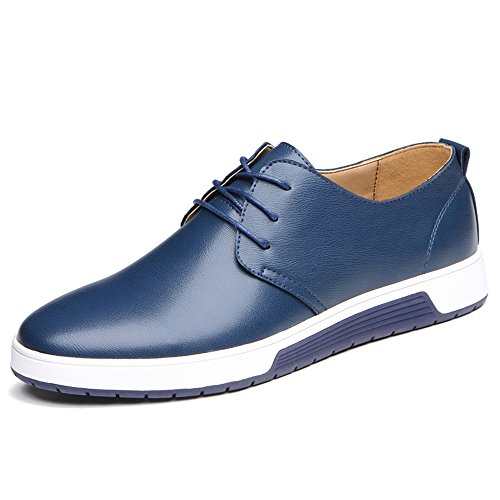 Jtomoo Men's Classic Business Style Casual Faux Leather Shoes