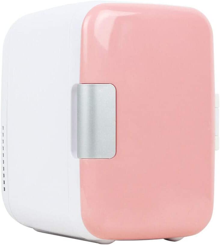 Ourine Congelador portátil para automóvil 4L Mini refrigerador Nevera Refrigerador para automóvil de Uso Dual Refrigerador portátil 12V Calentador portátil Refrigerador de Viaje Rosa