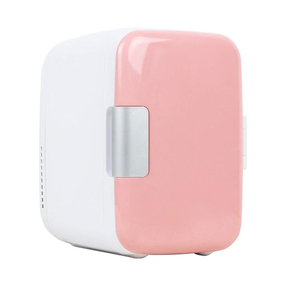 Ourine Congelador port/átil para autom/óvil 4L Mini refrigerador Nevera para Auto Hogar de Doble Uso Refrigerador para autom/óvil 12V Refrigerador port/átil Calentador Refrigerador de Viaje Azul