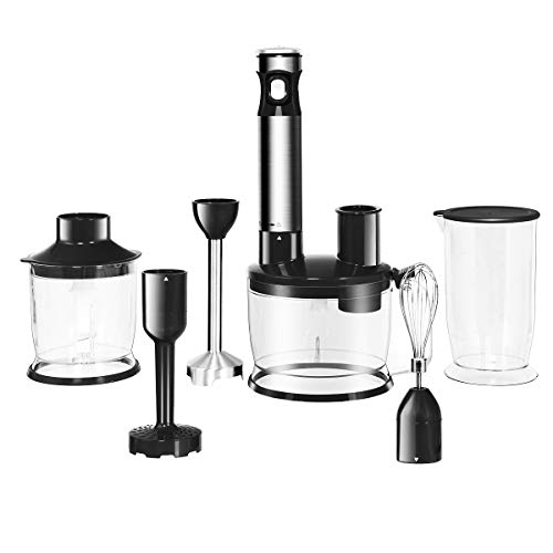 Costway 400W Hand Blender, Stainless Steel Stick Blender Wit