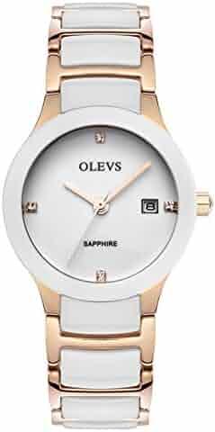 334b1fedd Fashion quartz watch/Calendar waterproof ceramic female form/ simple and  casual watches-A