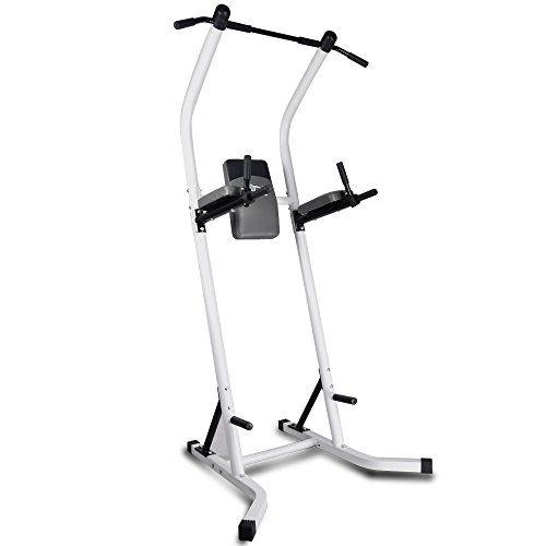 XPH Pull Up Dip Station Power Tower Workout Tower Fitness Station Body Tower Sports Equipment Pull Up Bar Standing Tower Home Fitness Workout Station (white) by XPH (Image #2)'