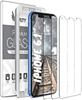 Purity Screen Protector for Apple iPhone 11 and iPhone XR - 3 Pack (w/Installation Frame) Tempered Glass Screen Protector...