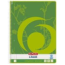 Herlitz 303453 - Cuaderno (Adulto, 80 hojas, Verde, Blanco, A4, 70 g/m²)