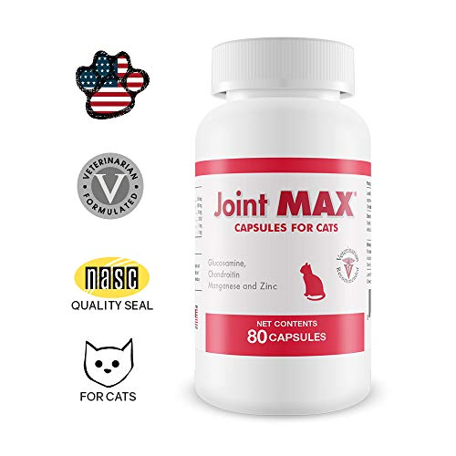 Pet Health Solutions Joint MAX Capsules for Cats - Vitamins, Minerals, Antioxidants - Glucosamine, Chondroitin - Fish Flavor - Maximum Joint Health Supplement for Cats - 80 Capsules