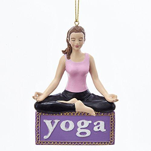 Kurt Adler Yoga Christmas Ornament (Namaste Ornament)