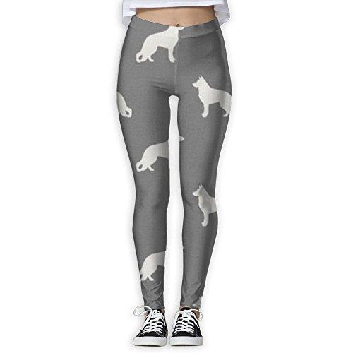 Pwiggy Womens Yoga Leggings German Shepherd Dog Compression Gym Tights Pants Athletic Leggings Picture