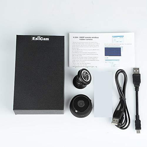 Mini Hidden Camera Nanny Spy Camera Versatile Dash Cam Wifi with Audio Battery Magnet 1080P SD Card Recording Indoor Surveillance Motion Detection For Phone Baby Monitor Dog Cam (Mini (EC06))