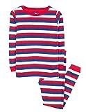 Leveret Striped Kids & Toddler Boys Pajamas 2 Piece Pjs Set 100% Cotton