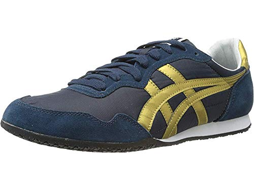 (Onitsuka Tige Unisex Serrano Sport Shoe, Navy/Gold, 14.5 M US Women/13 M US Men )