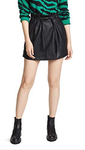 Free People Women's Faux Leather Payton Paperbag Miniskirt