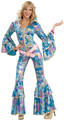 70's Costumes For Womens (Forum Novelties Women's 70's Disco Fever Disco Mamma Costume, Multi, Medium/Large)