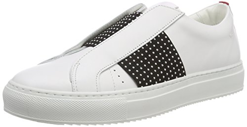 sin 100 White Uptown Cut Cordones Blanco Mujer Hugo St para Low Zapatillas 6gwZqq7n