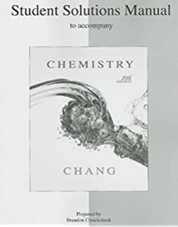 Chemistry raymond chang 9780077274313 amazon books student solutions manual to accompany chemistry fandeluxe Choice Image